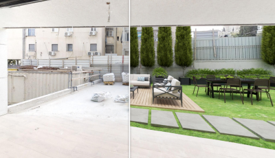 Pre/Post Construction Virtual Staging Example 3D Model